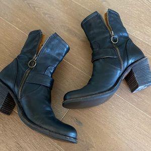 Fiorentini + Baker moto leather heeled boots